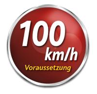 Der Baumaschinentransporter kann für für 100 km/h zugealssen werden.