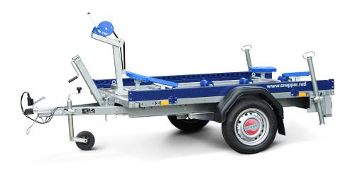 pulverbeschichtete Anhänger-Reling, 2-seitig und farblich mit Boot abgestimmt