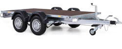 flat bed trailer twin axle
