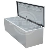 Drawbar box / storage box of aluminium (volume 154 x 108 cm)