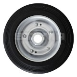 Wheel for support wheel, single, with steel rim