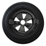 Wheel for support wheel single with plastic rim