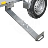 expandable spare wheel holder for 750 & 850 kg box trailers