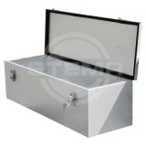 Drawbar box / storage box of galvanised steel sheet LARGE (volume 67.5 liters)