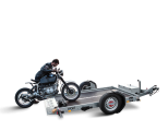 Lowerable trailers